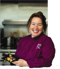 Chef Kirsten Pedersen<br />of Alaskan Events and Catering